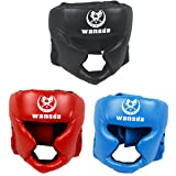 AIWAYING Boxing Headgear, Essential Professional Synthetic Leather MMA Protector Headgear, UFC Fighting,Judo,Kickboxing Head