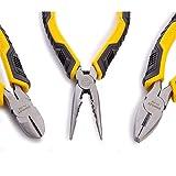 STANLEY 3 Piece Control Grip Plier Set, Grip/Combination/Long Nose