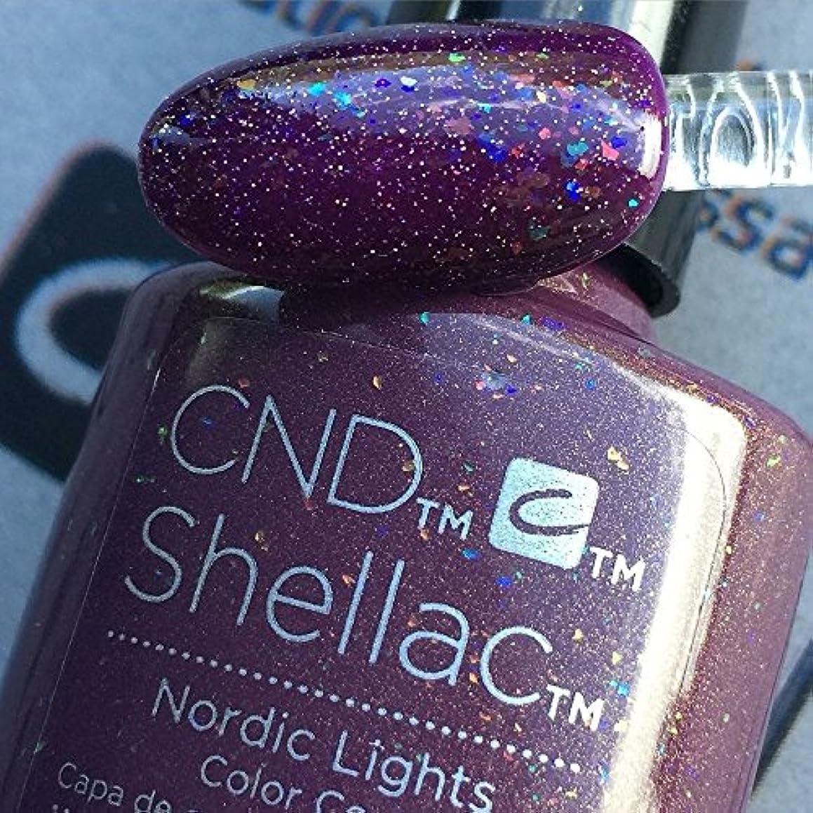 弾丸夫婦しおれたCND シェラック UV カラーコート 211 ノルディックライト Nordic Lights 7.3ml