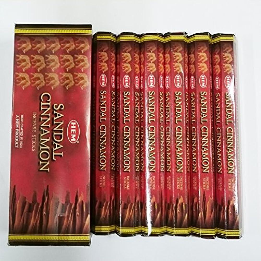 仕事ゲインセイクライアントHEM (ヘム) インセンス スティック へキサパック サンダル シナモン香 6角(20本入)×6箱 [並行輸入品]Sandal Cinnamon