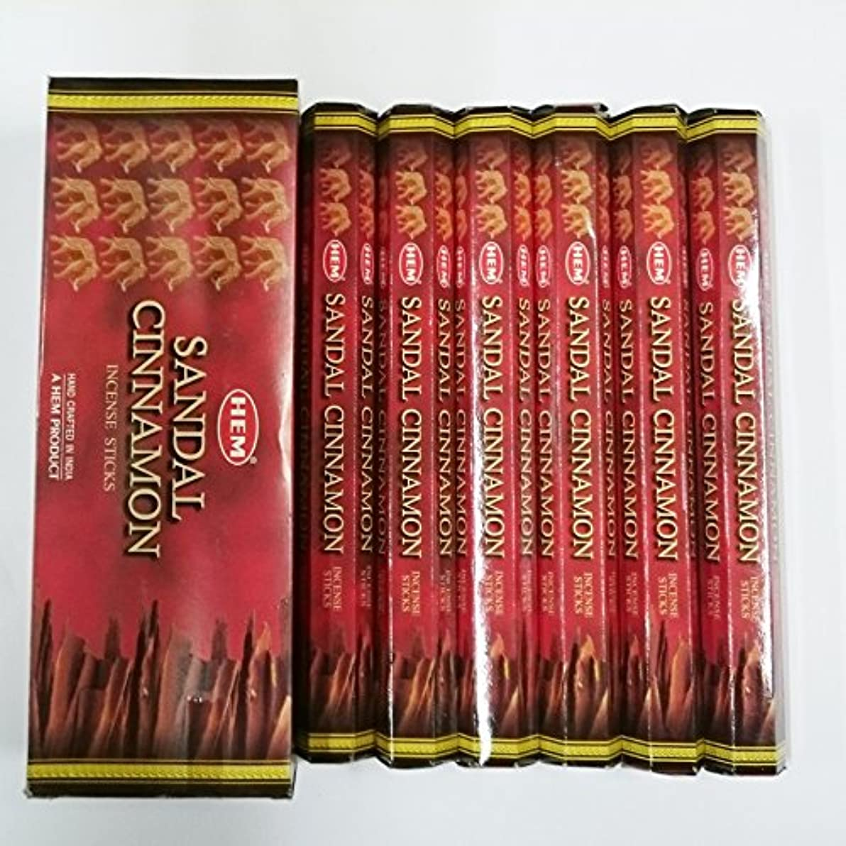 専らメッシュオートメーションHEM (ヘム) インセンス スティック へキサパック サンダル シナモン香 6角(20本入)×6箱 [並行輸入品]Sandal Cinnamon