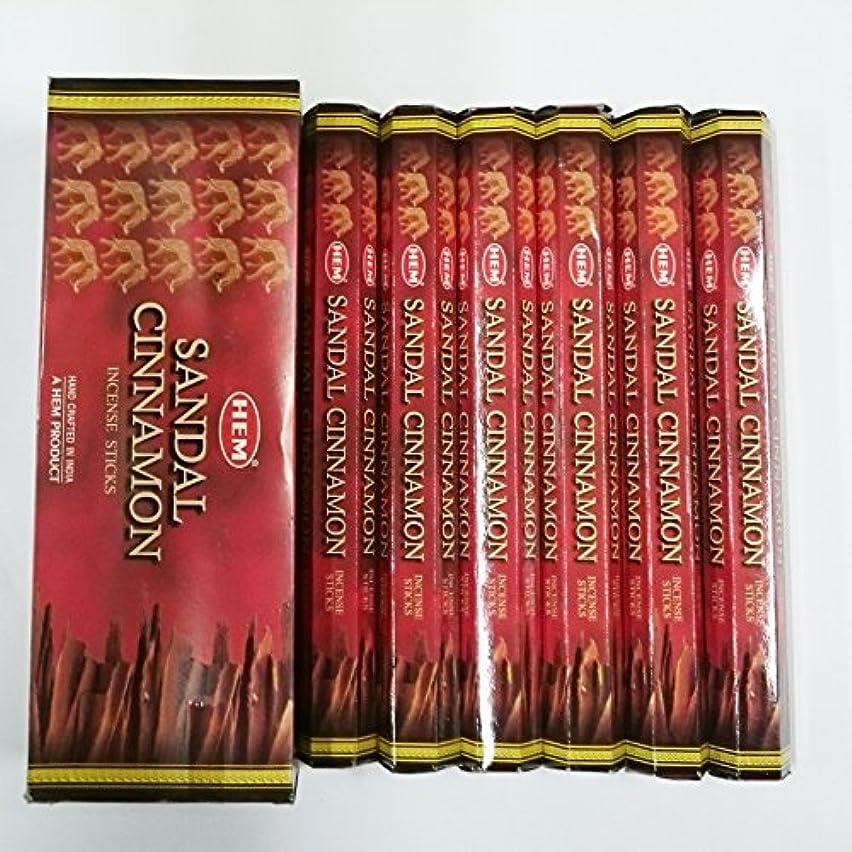願望トランジスタ言及するHEM (ヘム) インセンス スティック へキサパック サンダル シナモン香 6角(20本入)×6箱 [並行輸入品]Sandal Cinnamon