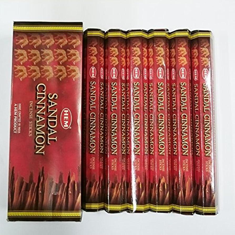乱雑な高速道路オーケストラHEM (ヘム) インセンス スティック へキサパック サンダル シナモン香 6角(20本入)×6箱 [並行輸入品]Sandal Cinnamon