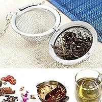 ステンレススチール製の茶こし器 メッシュロッキングティーボールフィルタースプーンフィルターC 1個。