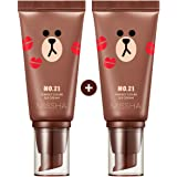 Missha M Perfect Cover BB Cream #21[2PK] SPF 42 PA+++(50ml) (LINE FRIENDS Edition)-Lightweight, Multi-Function, High Coverage