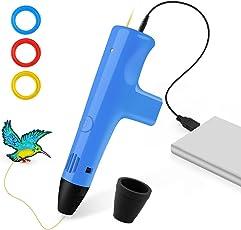 3dペン 3dプリンターペン 低温加熱 子供も遊べる フィラメント3卷付 PLA出力 立体の絵を描く 最新版のおもちゃ 知育 玩具