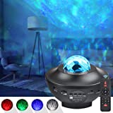 LED Projector Lights - COSANSYS Ocean Wave Star Sky Night Light with Music Speaker,Sound Sensor, Remote Control,360°Rotating