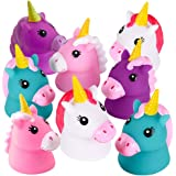 ArtCreativity Unicorn Water Squirt Toys for Kids, Pack of 12, Unicorn Birthday Party Favors, Bath Tub and Pool Toys for Child