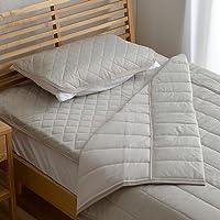 接触冷感 布団セット セミダブル 寝具 3点セット 洗える レノ 圧縮 グレー ( 敷きパッド キルトケット 枕パッド…