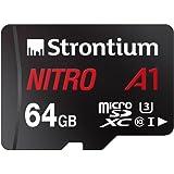 Strontium SRN64GTFU3A1A Nitro Micro SDXC Memory Card, 64GB