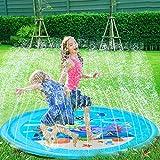 水遊び マット, Darhoo 子供 水遊び おもちゃ 噴水マット プレイマット キッズ 芝生遊び 親子遊び 水遊びマット プールマット 夏対策 庭の中に遊び 家族用 噴水できる大型プール 170cm - 海底世界パターン