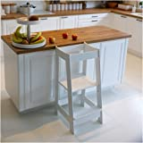Kids Kitchen Step Stool, Toddler Step Stool, Toddler Stool with Safety Anti-Slip Protection, Solid Hardwood Construction, 3 H