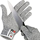 NoCry Cut Resistant Gloves with Secure-Grip Microdots and Level 5 Cut Protection. Comfort-Fit. Food Grade, Size Large. Includes Free eCookbook!