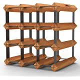 12 Bottle Timber Wine Rack - Rustic