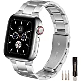 HKTM コンパチブル apple watch バンド ステンレス製 アップルウォッチ ベルト調整工具 バンド コンパチブル iWatch SE ,Series 6 5 4 3 2 1対応(38mm/40mm, シルバー)