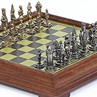 Camila Chessmen and Salvatori Chess Board From Italy by