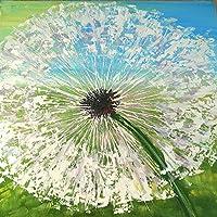 しいDIY 5dダイヤモンド 絵画 ダイヤモンド 刺繍 貼り付けたペイントペイントby Numberキットステッチクラフトキットホーム装飾壁ステッカー - タンポポの花 (8390)
