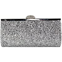 Wiwsi Makeup Lady Cosmetic Coin Purse Handbag Fashion Glitter Sequins Clutch Bag