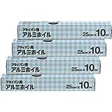 [Amazon限定ブランド]  Kuras フライパン用アルミホイル 25cm×10m ×4本パック