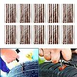 TKOOFN 車用 タイヤ パンク修理キット バイク車チューブレス バイク用 パンク修理ストリップ シーラー 50本セット