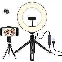 LEDリングライト - OhaYoo 外径8in USBライト 3色モード付き 撮影照明用ライト 卓上ライト Bluet…