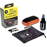 #1 Record Cleaner Kit - Complete 4-in-1 Vinyl Cleaning Solution, Includes Velvet Record Brush, XL Cleaning Liquid, Stylus Bru