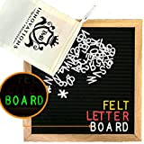 TMB Alphabetzフェルトレターボードwith Changeable Letters | 10 x 10-inch Changeable Letter Board with Letterバッグとはさみ – 625ホワイト/ゴールド/レッド/ glow-in-the-dark文字、数字、およびEmojis