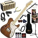 Squier エレキギター 初心者 入門 セミホローボディの独特なTeleサウンド、個性的なビジュアルが特徴的なシンライン。 レトロなデザインで多機能・高音質のYAMAHA THR5が入ってる大人の19点セット Classic Vibe Telecaster Thinline