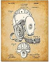Football Helmet Patent - 11x14 Unframed Patent Print - Great Gift for Football Fans Football Players Boy's Room [並行輸入品]