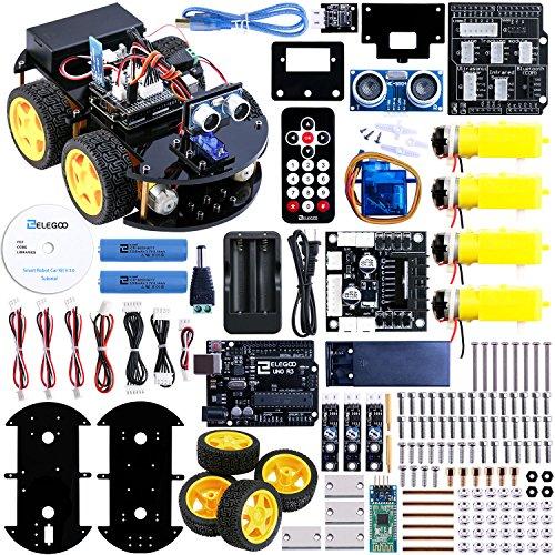 ELEGOO UNO R3 スマートロボットカーV2.0 アップグレード U...