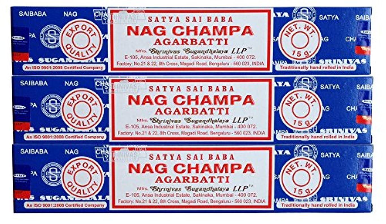 飼料導入するアブストラクトSATYAサイババナグチャンパ15g 3個セット
