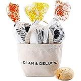 DEAN&DELUCA ミニトートホワイト&アマレッティ3個セット(レモン、オレンジ、アプリコット)