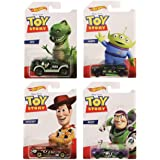 Hot Wheels Mattel Disney Pixar Toy Story Cars Collection of 4 Vehicles with Buzz, Rex, Alien and Woody