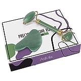 AstiVita Green Jade Roller Gift Set with GuaSha (Green) Face Massager in Gift Box