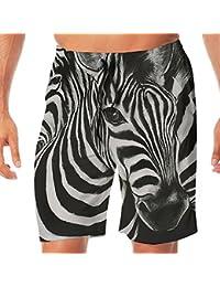 メンズ水着 ビーチショーツ ショートパンツ シマウマ スイムショーツ サーフトランクス 速乾 水陸両用 調節可能