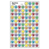 Trend Enterprises トレンド superSpots Stickers Paw Prints 【ごほうびシール】 あしあとご褒美シール 6色 (800枚入り) T-46195