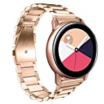 Adjustable Stainless Steel Straps Compatible for Samsung Galaxy Watch Active Watchband Wristband Unisex Band