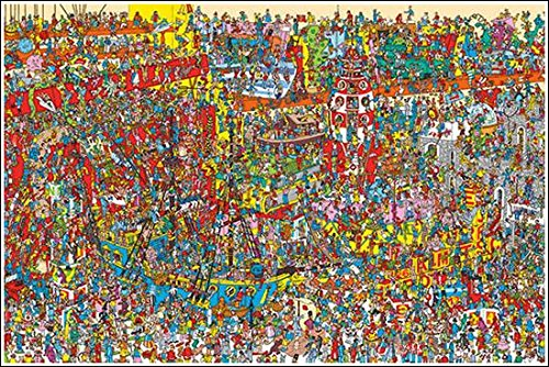 [해외]포스터 월리를 찾아라 | Toys + 알루미늄 프레임 (화이트) 세트 PP-33671W/Find poster wally | Toys + Aluminum frame (white) set PP-33671W