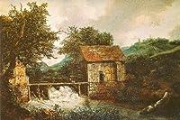 2つWatermills & an Open Sluice–キャンバスまたはFine印刷壁アート Fine Paper - 24 x 36