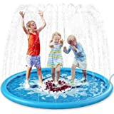 "Jasonwell Sprinkle & Splash Play Mat 68"" Sprinkler for Kids Outdoor Water Toys Inflatable Splash Pad Baby Toddler Pool Boys G"