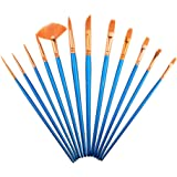 Paintbrush Sets Nylon Hair SAYEEC 12 Pcs Artist Professional Watercolour Paint Brushes Fine Deatil Paint Brush Round Flat for