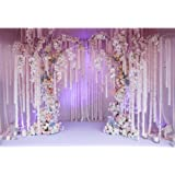 Leyiyi Wedding Floral Wall Backdrop 10x6.5ft Photography Background Dreamy Wedding Arch Bridal Shower Ceremony Flowers Baby S