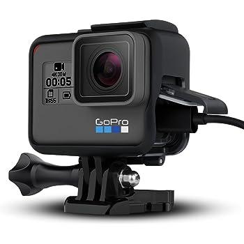 GoPro HERO5/6/7用 保護フレーム GoPro HERO 7 Black用ケース GoPro HERO 5用ケース GoPro HERO 6用ケース 保護フレーム 直接充電 安全 保護 アクションカメラアクセサリー ブラック (黒) GoPro 7 Black GoPro 7 White GoPro 7 silver