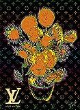 ルイ・ヴィトン GOGH ART キャンバスポスター ゴッホ ひまわり Louis Vuitton オマージュポスター Canvas #sh11a STAR DESIGN A1サイズ(594×841mm)