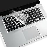 US配列/英語配列 キーボードモデル専用 MacBook Pro/MacBook Air 13インチ / 15インチ US キーボードカバー TPU/シリコン素材 TouchBar非搭載