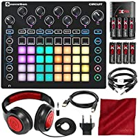 Novation Circuit Groove Box w/Sample Import 2-Part Synth 4-Part Drum Machine with Closed-Back Headphones Cables and Deluxe Bundle [並行輸入品]