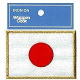 日本国旗ワッペン 日の丸 Mゴールド