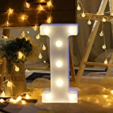 LED Marquee Letter Lights Sign 26 Alphabet Light Up Letters Sign for Night Light Wedding Birthday Party Battery Powered Chris