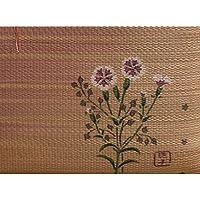 純国産/日本製 捺染返し い草座布団 『撫子(なでしこ) 2枚組』 約55×55cm×2P ds-862339
