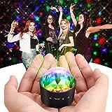 Miuko ミラーボール ミニレーザーステージ照明Audio Party Ball USB LEDライトDJライト 車載 携帯 充電式